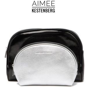 Aimee Kestenberg 2PC Leather Cosmetic Travel Set
